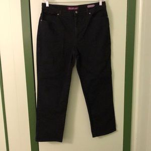 Gloria Vanderbilt Amanda Black Jeans 14 Short